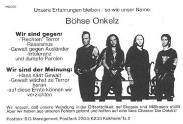 Böhse Onkelz Nazi